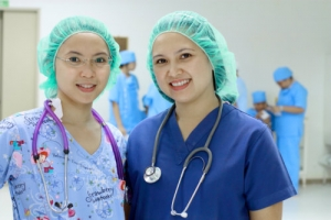 nurses in a hospital setting