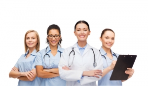 group of female healthcare staffs